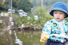Child bubble Stock Image
