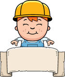 Child Builder Banner Royalty Free Stock Photography