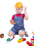 Child builder Royalty Free Stock Photography
