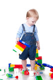 Child building Royalty Free Stock Image