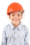 Child in a building helmet Stock Photos