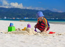 Child building sandcastle Royalty Free Stock Photo