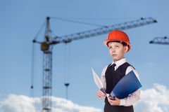 Child on the building site Stock Photography