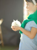 Child with bunny Royalty Free Stock Image