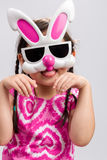 Child with Bunny Mask Background / Child with Bunny Mask / Child with Bunny Mask on  White Background Royalty Free Stock Image