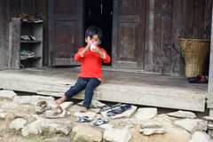 Child in Burmese Village Royalty Free Stock Image