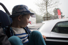 Child in the bus Royalty Free Stock Images