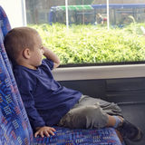 Child on bus Stock Image