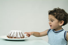 Child and cake Royalty Free Stock Images