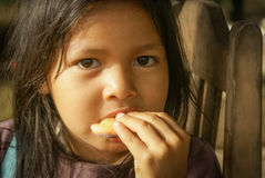 Child with cake in Bolivia Royalty Free Stock Photos