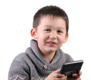 Child and calculator Stock Image