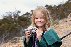 Child with camera Royalty Free Stock Images