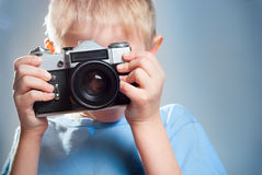 Child with a camera Stock Photo