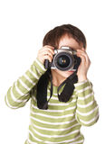 Child with camera Stock Photo