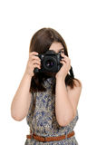Child with a camera Stock Photography