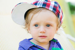 Child with cap Royalty Free Stock Photography