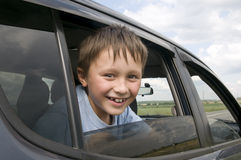 Child in the car Stock Image