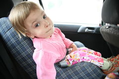 Child in the car Stock Photos