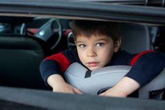 Child in car Stock Photography