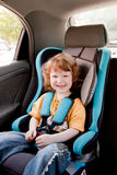 Child in a car stock photography