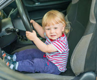 Child in car Royalty Free Stock Images