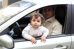 Child in the car Royalty Free Stock Photography