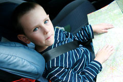 Child in car safety seat Royalty Free Stock Photo