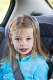 Child in car seat Stock Photo