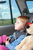 Child in car seat. Photo shot of child in car seat Royalty Free Stock Image