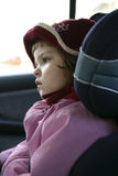 Child in a car seat Stock Photo