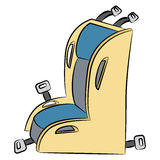 Child Car Seat Cartoon Royalty Free Stock Photos