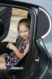 Child in car seat Stock Images
