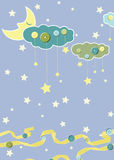 Child card. With moon. Vector illustration Stock Image