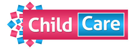 Child Care Pink Blue Horizontal Royalty Free Stock Photography
