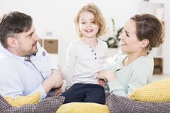 Child cared for successfully developing Stock Photo