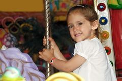 Child in carousel Royalty Free Stock Photos