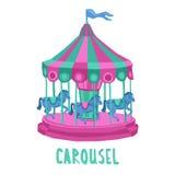 Child Carousel Illustration Royalty Free Stock Images