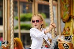 Child On Carousel Royalty Free Stock Image