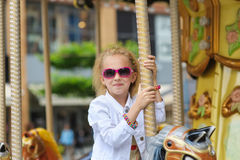 Child On Carousel Stock Image