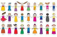 Child cartoon drawings Royalty Free Stock Image