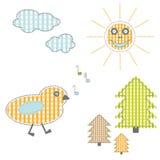 Child cartoon elements - vector file addea Royalty Free Stock Photos