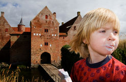 Child castle ruin tourism Stock Photography