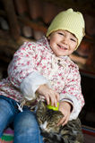 Child with cat Royalty Free Stock Photos