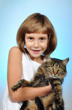 Child with a cat Royalty Free Stock Images