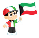 Child Celebrates Kuwait National Day Royalty Free Stock Photos