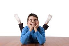 Child celebrating Royalty Free Stock Images
