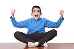 Child celebrating Royalty Free Stock Image