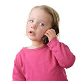 Child with cell Stock Photos