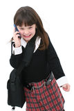 Child with Cellphone Stock Photo