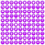 100 child center icons set purple. 100 child center icons set in purple circle isolated on white vector illustration vector illustration